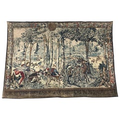 Vintage French Aubusson Style Tapestry