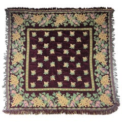 Vintage French Autumn Themed Tablecloth