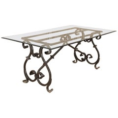 Vintage French Baroque Style Indoor or Outdoor Dining Table
