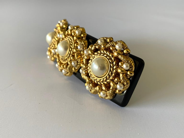 Vintage French hair barrette