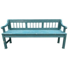 Vintage French Blue Bench