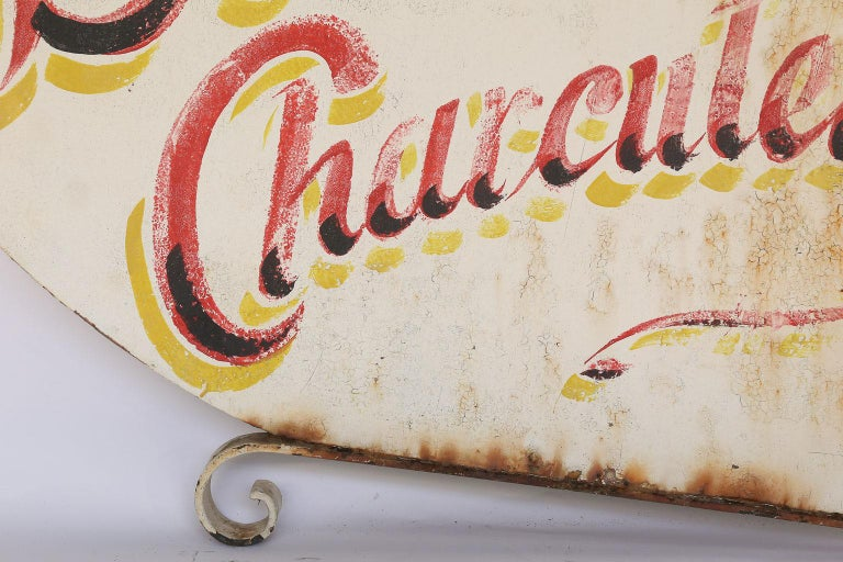 Vintage French Boucherie Charcuterie Shop Sign In Good Condition For Sale In Houston, TX