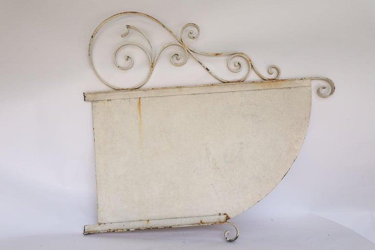Iron Vintage French Boucherie Charcuterie Shop Sign For Sale