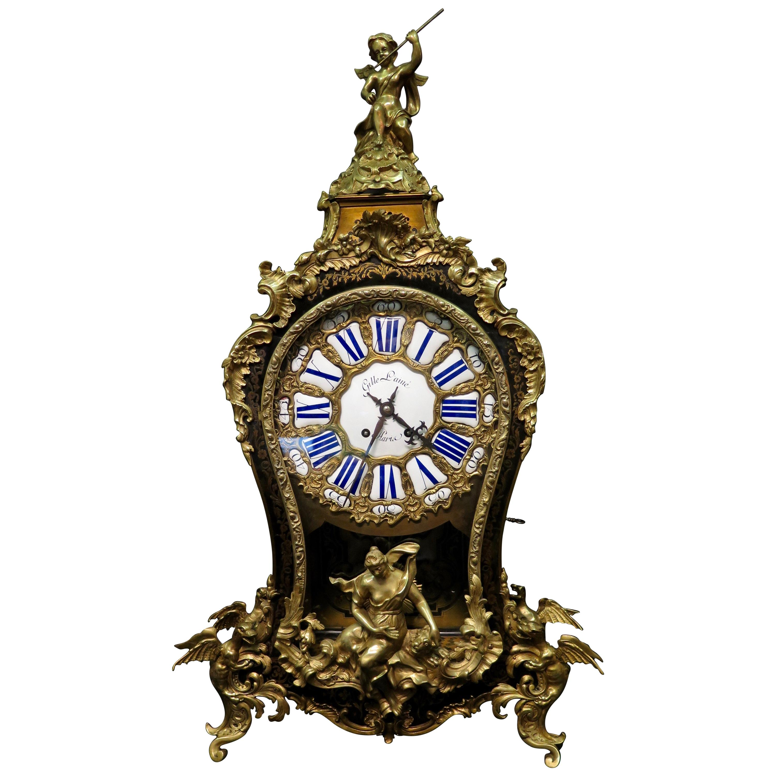 Vintage French Boulle Clock
