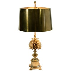 Vintage French Bronze Table Lamp by Maison Charles