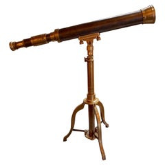 Vintage French Bronze Telescope
