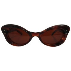 Vintage French Butterfly Tortoise Sunglasses