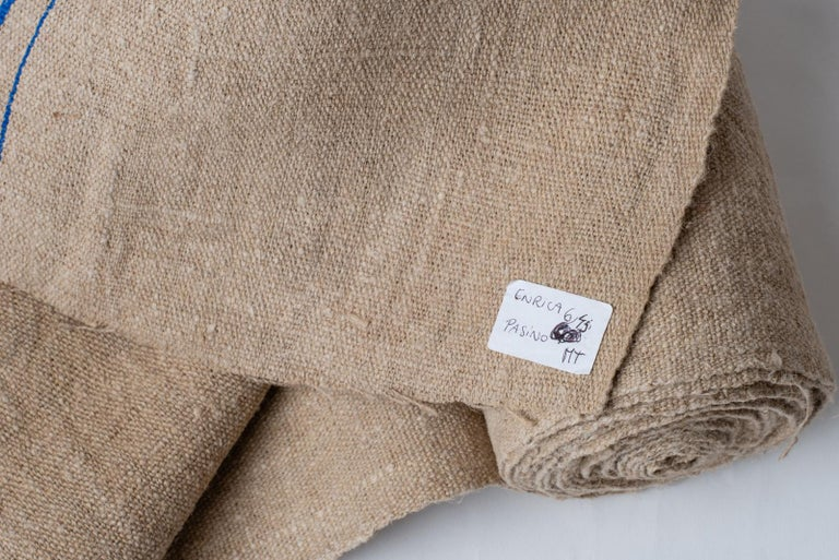 Vintage French canvas for modern or country furnishing. Upholstery fabric for armchairs: Mediterranean good taste! T/219-2.