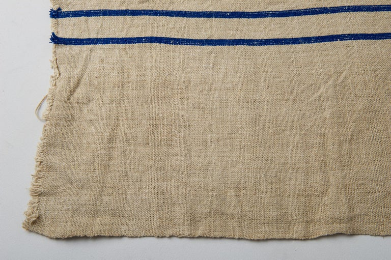 Country Vintage French Canvas for Upholstery For Sale