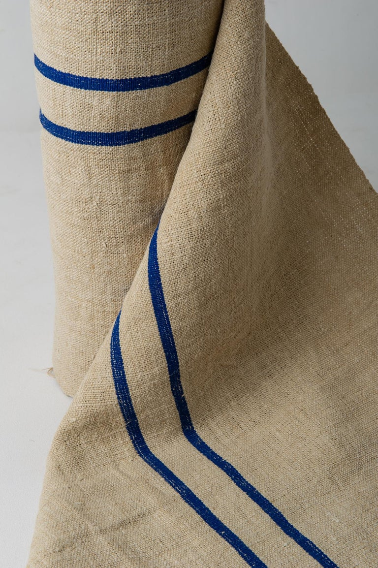 20th Century Vintage French Canvas for Upholstery For Sale