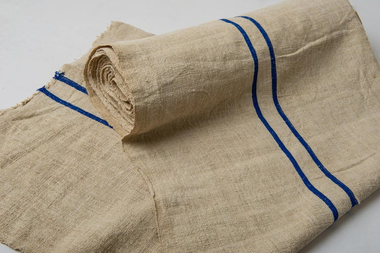 Vintage French Canvas for Upholstery For Sale 3