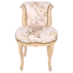 Vintage French Carved Louis XV Style Bedroom Chair