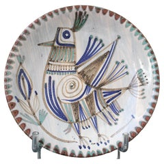 Vintage French Ceramic Decorative Plate by Le Mûrier 'circa 1960s'