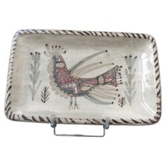 Vintage French Ceramic Dish by Gustave Reynaud, Le Mûrier 'circa 1960s'