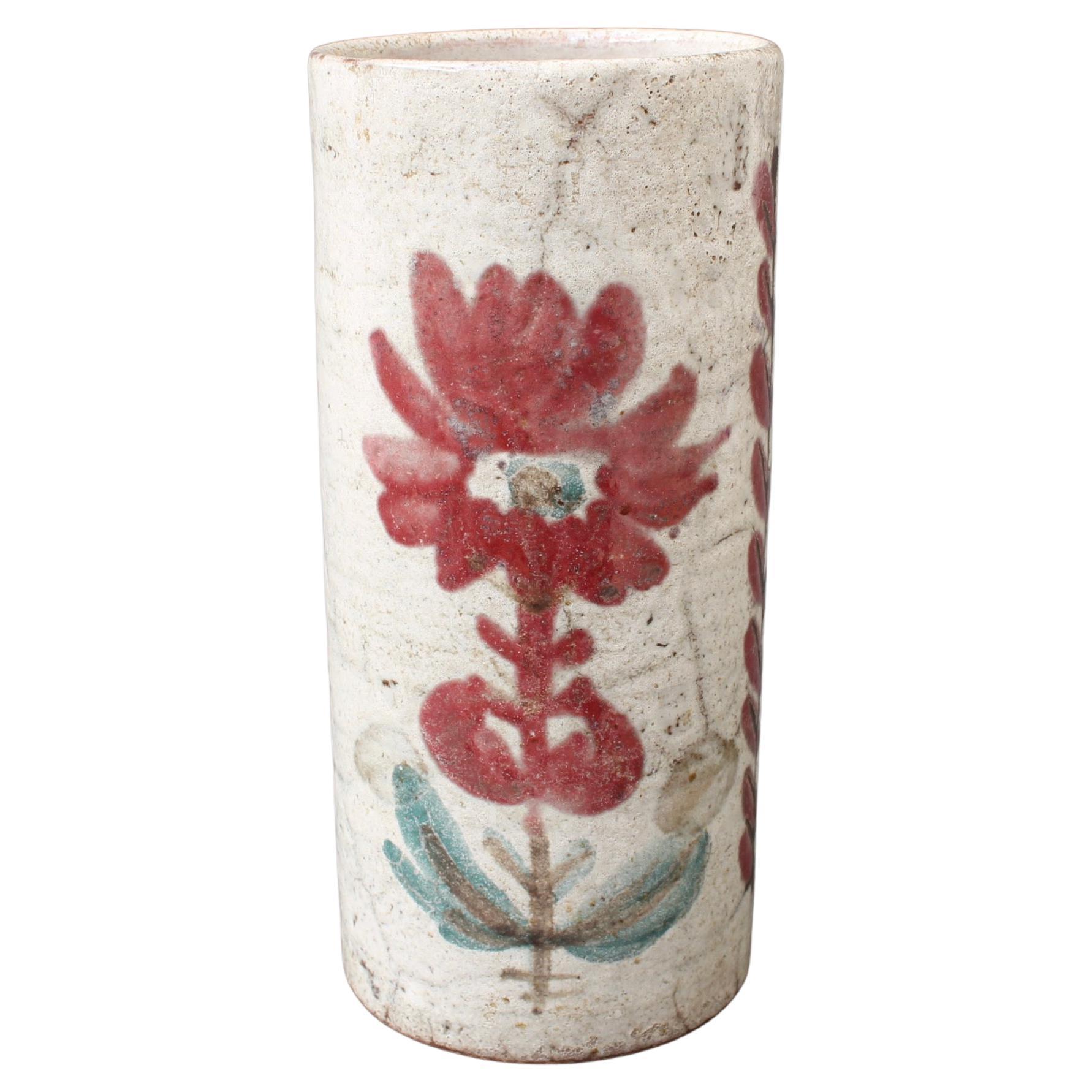 Vintage French Ceramic Flower Vase by Le Mûrier 'circa 1960s'
