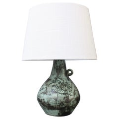 Vintage French Ceramic Lamp by Jacques Blin, circa 1950s