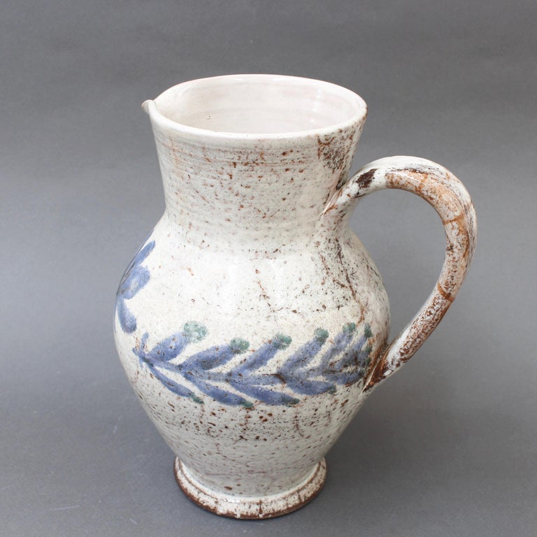 Vintage French Ceramic Pitcher by Gustave Reynaud, Le Mûrier, circa 1950s For Sale 5