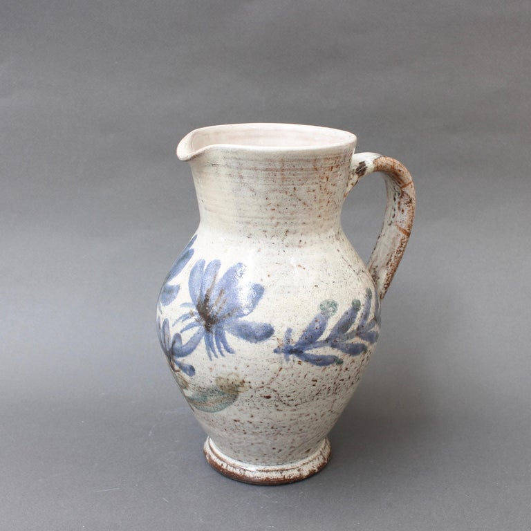 Vintage French Ceramic Pitcher by Gustave Reynaud, Le Mûrier, circa 1950s In Good Condition For Sale In London, GB