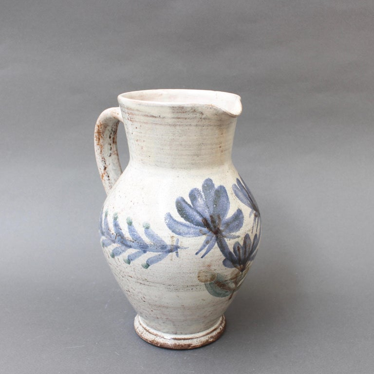 Vintage French Ceramic Pitcher by Gustave Reynaud, Le Mûrier, circa 1950s For Sale 1