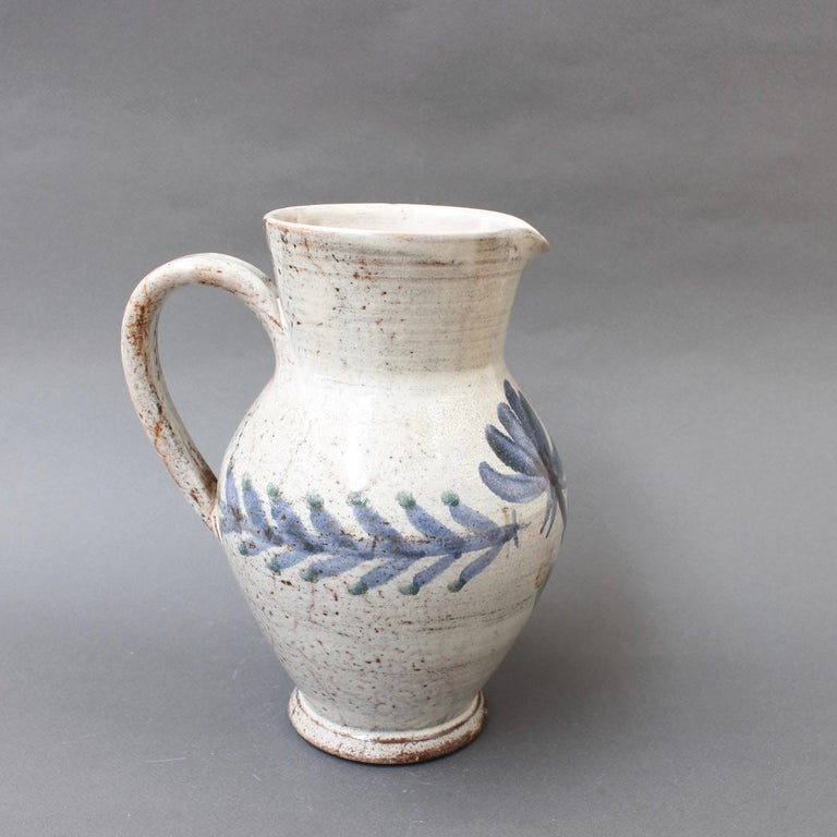 Vintage French Ceramic Pitcher by Gustave Reynaud, Le Mûrier, circa 1950s For Sale 2
