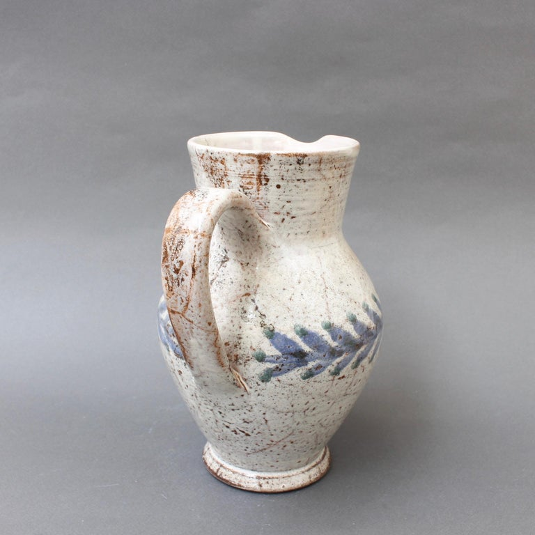 Vintage French Ceramic Pitcher by Gustave Reynaud, Le Mûrier, circa 1950s For Sale 3