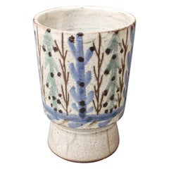 Vintage French Ceramic Vase by Gustave Reynaud, Le Mûrier 'circa 1950s'