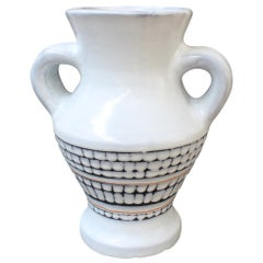 Vintage French Ceramic Vase with Handles by Roger Capron 'circa 1950s'