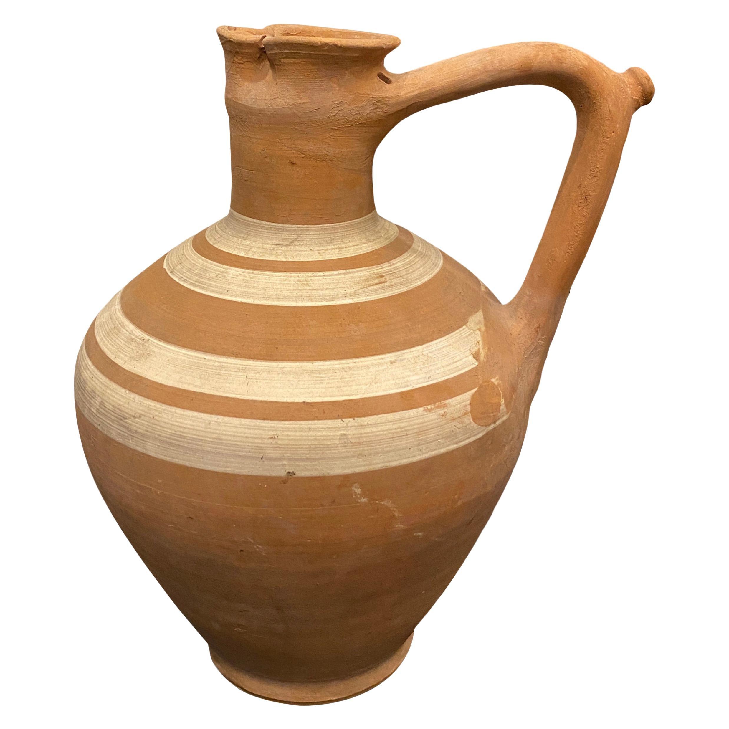 Vintage French Ceramic Wine Carafe