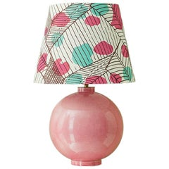 Vintage French Ceramique Table Lamp with Customized Shade