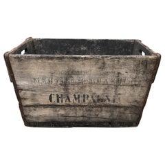 Vintage French Champagne Harvest Basket
