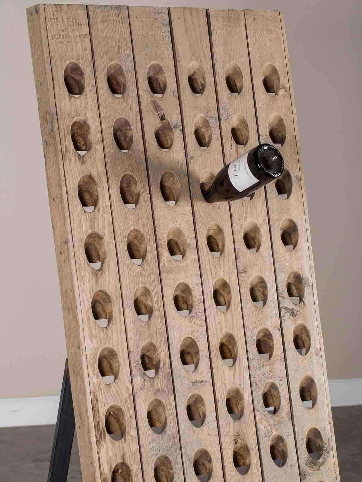 A Terrific Reuse Of A Traditional Vintage Champagne Riddling Rack Mounted  On A Custom Made