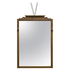Vintage French Classical Greek Key Giltwood Wall Mirror, 20th Century