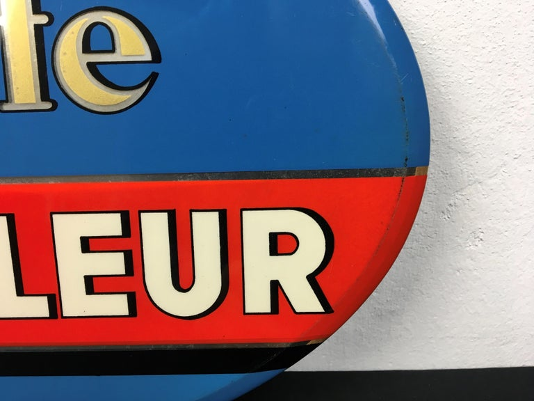 Vintage French Coffee Sign, Jihair Coffee For Sale 7