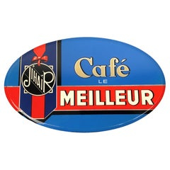 Vintage French Coffee Sign, Jihair Coffee
