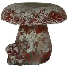 Vintage French Concrete Mushroom