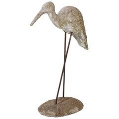 Vintage French Concrete Shore Bird