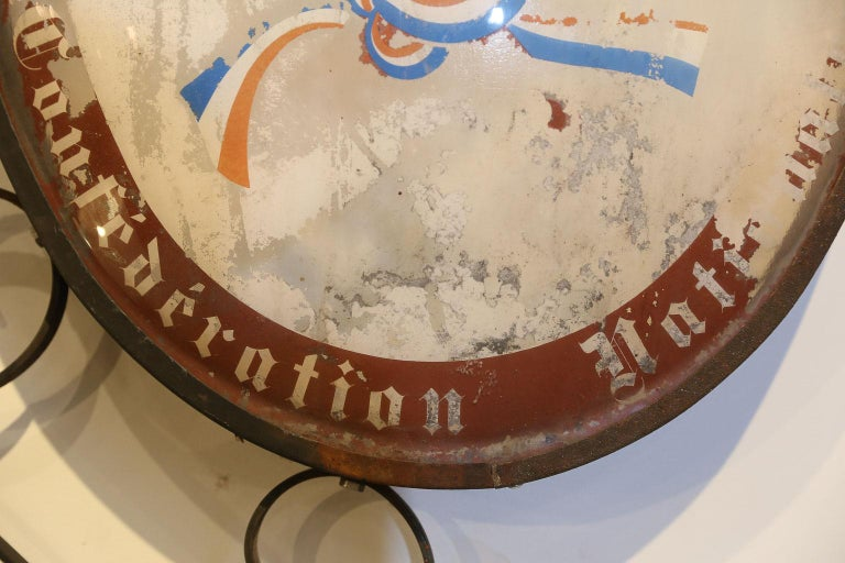 Iron Vintage French Confiseur, Patissier, Glacier Shop Sign For Sale
