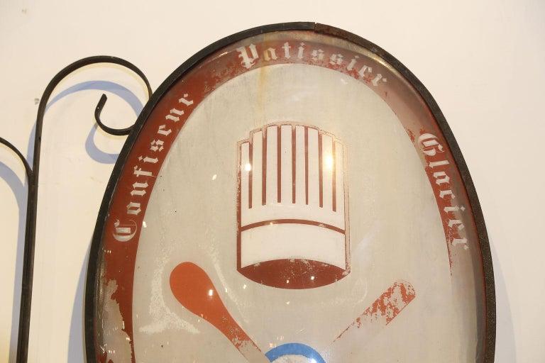 Vintage French Confiseur, Patissier, Glacier Shop Sign For Sale 2