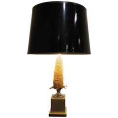 Vintage French Corn Table Lamp, 1970s