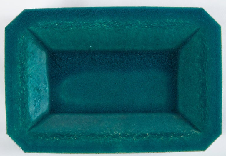 Terracotta Vintage French Crackle-Glaze Platter, Eissautier For Sale