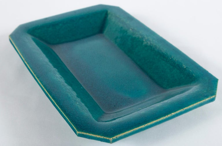 Vintage French Crackle-Glaze Platter, Eissautier For Sale 1