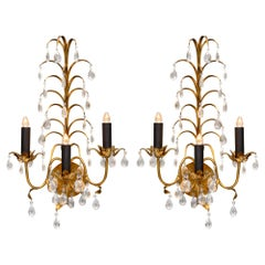 Vintage French Crystal Sconces