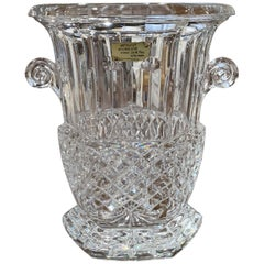 Vintage French Cut Crystal Champagne Ice Bucket with Side Handles