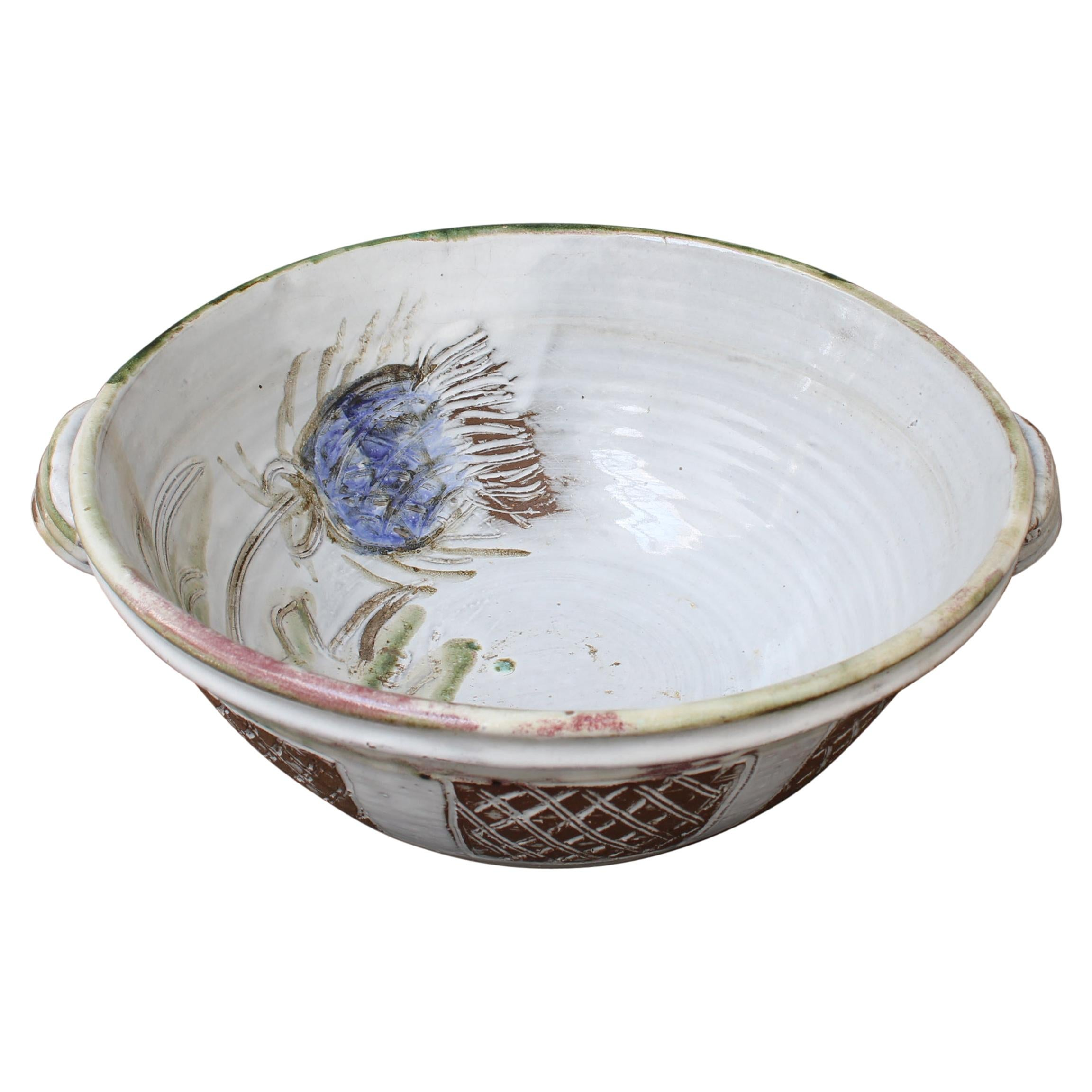 Vintage French Decorative Fruit Bowl by Albert Thiry 'circa 1960s'