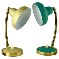 Vintage French Desk or Bedside Lamps from Aluminor France, 1950s