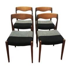 Vintage French Dining Chairs, 1960s, Set of 4