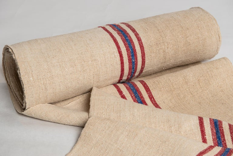 Country Vintage French Fabric Canvas for Upholstery For Sale