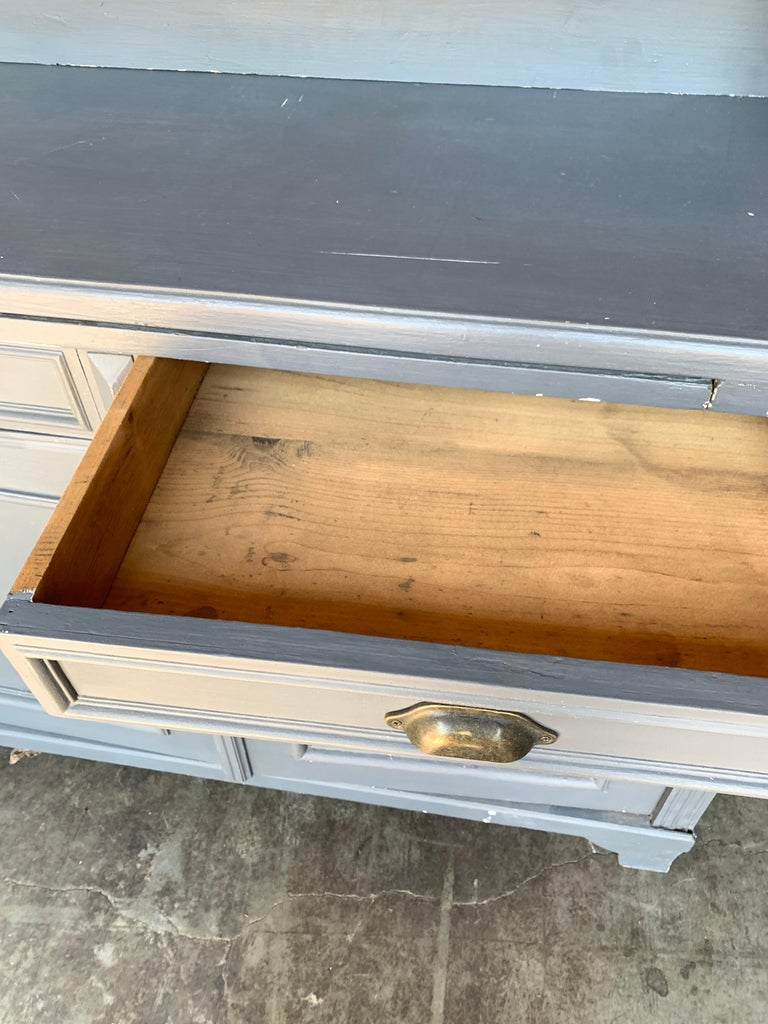 20th Century Vintage French Farmhouse Hutch For Sale