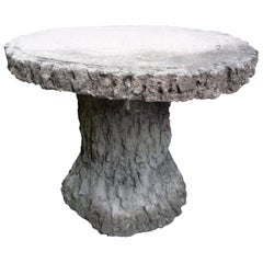 Vintage French Faux Bois Table or Garden Stool