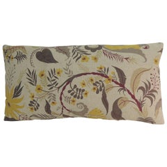 Vintage French Floral Printed Bolster Linen Decorative Bolster Pillow